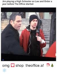 Law And Order Meme - jim playing a high schooler on law and order a year before the