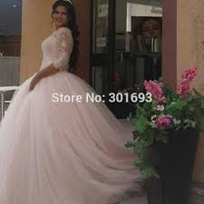 Pink Wedding Dresses With Sleeves Pink Wedding Dress Picture More Detailed Picture About Oumeiya