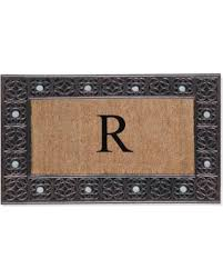 monogramed tray deal alert impression decorative monogrammed tray door mat