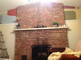 which color with red brick fireplace