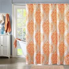 Orange Shower Curtains Creativeworks Home Decor Shower Curtains