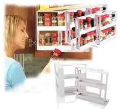 kitchen newest white cabinet organizer 4 racks set swivel store