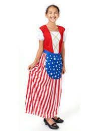 Historical Halloween Costume Betsy Ross Costume Girls Historical Halloween Costumes