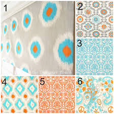 Valance Blue Orange Blue Valance Premier Prints Valance Ikat Valance Blue
