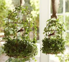 Shabby Chic Flower Pots by Flower Pot Birdcage Decor