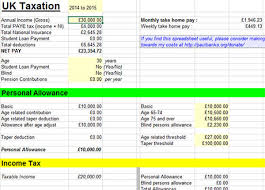 Estimate Tax Refund 2014 by Free Tax Calculator Excel Templates 2014 2015