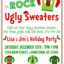 ugly sweater party invitation wording dancemomsinfo com