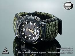 survival bracelet watches images Solar power combat survival paracord bracelet watch casio tough jpg