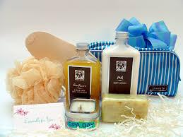 thoughtful presence promotes natural spa gift baskets for spring pamper spa gift basket