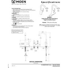 moen 7790 arbor chrome one handle with sidespray kitchen faucets