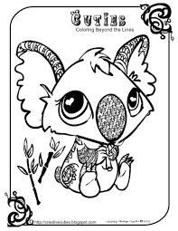 creative cuties koala printable coloring page rubber clear