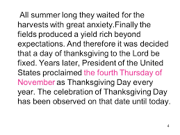 1 2 the fourth thursday of november thanksgiving day is the most