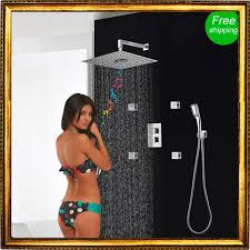 compare prices on thermostatic bath shower mixer online shopping shower set concealed 3 functions thermostatic mixer shower bath fm radio bluetooth shower head body jets