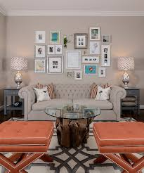 chic living room decorating trends to watch out for in 2015 serene living room with a smart gallery wall design kerrie l kelly