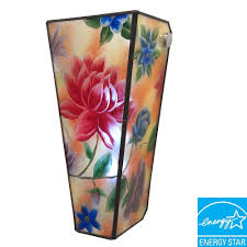Exciting Lighting It U0027s Exciting Lighting 5 Led Wall Mount Hand Painted Glass Flowers