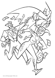 harleyquinncoloringpages site image joker and harley quinn