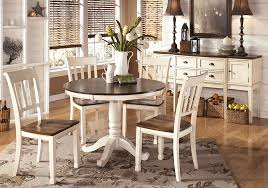whitesburg round dining table and 4 side chairs louisville