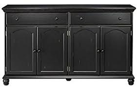 Corner Sideboards Buffets Amazon Com Harwick Black Credenza Sideboard Buffet Table 35