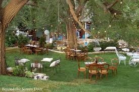 Outdoor Backyard Wedding Triyae Com U003d Wedding Reception In My Backyard Various Design
