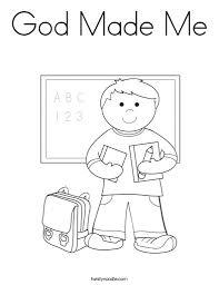 god made me coloring page free fleasondogs org