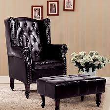 Brown Leather Accent Chair Cloud Mountain Tufted Accent Chair And Ottoman Brown
