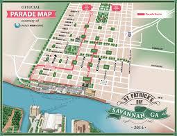 Savannah Ga Map Celebrate Savannah St Patrick U0027s Day