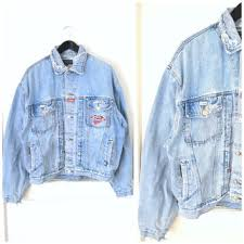 Light Jean Jacket Distressed Faded Denim Jacket Vintage 90s From Onefortynine On
