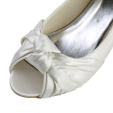 wedding shoes toe women s satin kitten heel peep toe sandals white wedding shoes