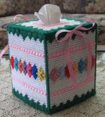 25 free patterns for plastic canvas plastic canvas tissue box