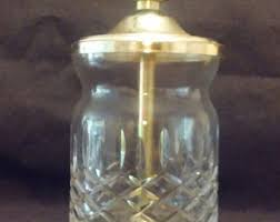 Brass And Crystal Table Lamps Lead Crystal Lamp Etsy