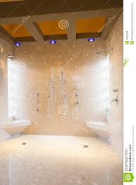 his and her bathroom bathroom with his and hers shower heads royalty free stock photos