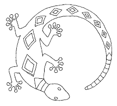 Lizard Coloring Pages Reptile Coloring Pages