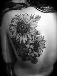 back sunflower design of tattoosdesign of tattoos