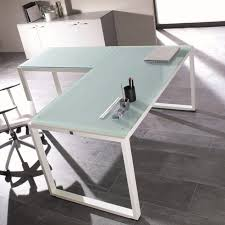 table de bureau en verre bureau verre blanc design pas cher nommé achat vente