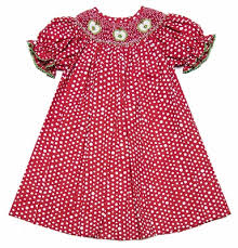 vive la fete girls u0027 red white polka dots dress smocked with green