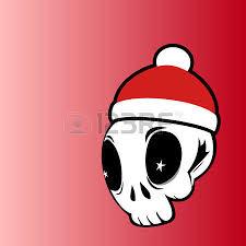 dead moroz says ho ho ho bearded skull dressed like santa claus