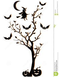 halloween tree vector background stock photo image 26652020