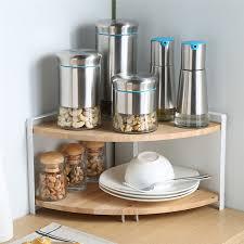 eckregal küche dual layer küche eckregal gewürzzahnstangen holz regale für würze