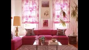 Pink Living Room Chair Adorable Livingoom Pink Flower Wallpaper And Black Furniture Light