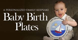 baby birth plates personalized serendipity crafts creators of personalized signature platters