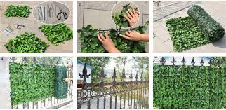 ivy home decor outdoor nature artificial ivy privacy fence screen for home decor