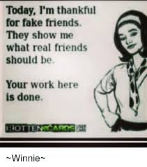 Fake Friends Memes - today i m thankful for fake friends they show me what real friends