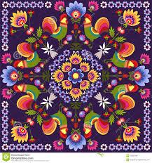 polish traditional stock vector image of wallpaper branch 32265346