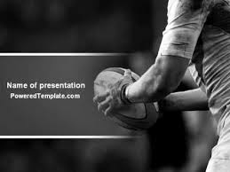 rugby football powerpoint template by poweredtemplate com youtube