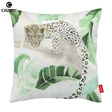 online get cheap home decoration pillowcase leopard print