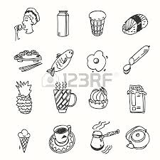 morning breakfast lunch or dinner kitchen doodle hand drawn sketch