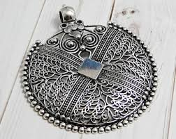 necklace silver etsy images Filigree pendant etsy jpg