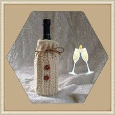 crochet wine bottle sweater wine tote bottle cover hostess gift