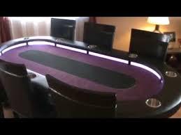 Custom Poker Tables Custom Poker Table Youtube