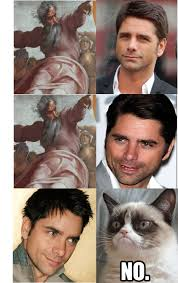 john stamos tells god to eat a snickers quickmeme